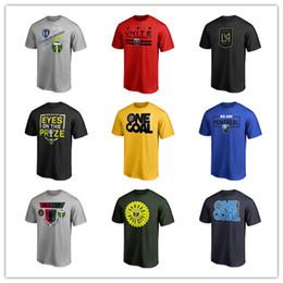 2019 chemises en jersey de coton T-shirts de football MLS pour hommes Nouveau style de maillots de football Noir rouge bleu T-shirts de mode 2019 marqués de t-shirts et de t-shirts en coton, logos de marque d'impression 3D chemises en jersey de coton pas cher