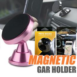 soporte magnético para teléfono celular Rebajas Soporte de montaje de coche magnético de aleación de metal premium Soporte de soporte de teléfono móvil de rotación de cabeza giratoria para soporte de montaje de coche para iPhone 8 x