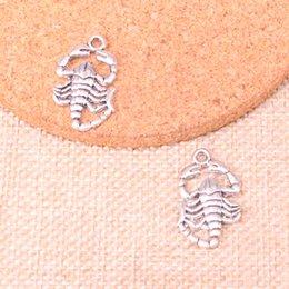 84 adet Charms akrepler Antik Gümüş Kaplama Kolye Fit Takı Yapımı Bulguları Aksesuar 26 * 15mm cheap scorpion charms nereden akrep takılar tedarikçiler