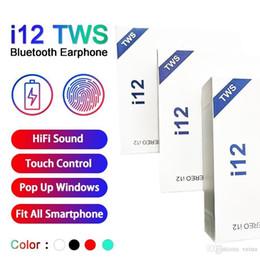 Deutschland i12 tws Bluetooth 5.0 drahtlose Bluetooth-Kopfhörer unterstützen Pop-up-Fenster Kopfhörer bunte Touch Control Wireless Headset Versorgung