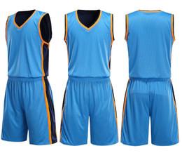 Bermudas dupla face on-line-Personalidade Personalizada Dupla face vestindo terno de basquete conjunto jerseys em branco, conjuntos de Basquete universitário Com Shorts, treinamento personalizado veste