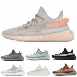 461ec2620fd3 2019 New 350 V2 Men Women Running Shoes Static Clay Hyperspace True Form  Zebra Sesame BELUGA BLUE TINT Athletic Sport Sneakers 36-48