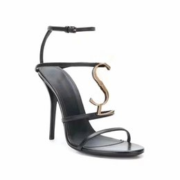 Zapatillas Sandalias Zapatos de tacón Zapatillas de cuero real Zapatillas de calidad superior Sandalias Pantalones para mujer DHL libre EU: 35-40 por toy99 SLL22001 desde fabricantes