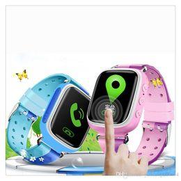 Анти-потерянный смарт-часы браслет GPS трекер SOS Call Location Finder для детей детей, совместимых для iPhone смартфонов с сенсорным экраном от