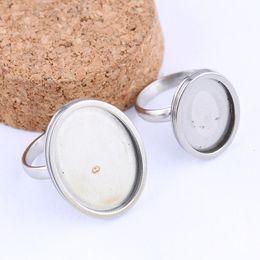 Leere lünetteneinstellungen online-onwear fit 13x18mm 18x25mm oval cabochon ring basis einstellungen edelstahl ringe lünette rohlinge diy schmuck zubehör