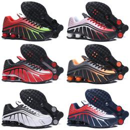2019 homens, correndo, sapato, shox 2019 Shox R4 homens tênis de corrida de qualidade superior NEYMAR OG COMETE RED RACER AZUL Preto Metallic Mens Formadores Moda Tênis Esportivos desconto homens, correndo, sapato, shox