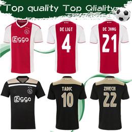887145afced Ajax 2019 Men s soccer jersey Home  4 DE LIGT   21 DE JONG 18 19 ajax Away  football shirt  10 TADIC  22 ZIYECH Customize Adult Game Uniforms ajax  shirts for ...