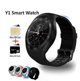 Argentina Y1 Relojes Inteligentes Bluetooth Redondo Soporte Nano SIM Tarjeta TF con Whatsapp y Facebook Hombres Mujeres Negocios Smartwatch Para iPhone Android Suministro