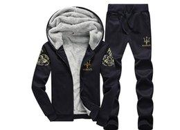 tuta spesso Sconti MENS Winter Warm Thick Tute Jogger Giacche 2 pezzi Set di abbigliamento Designer MASERATI