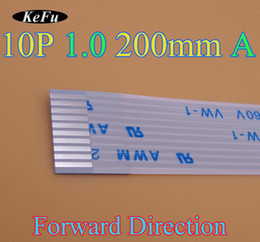 2019 ffc câble fpc 2X 10pin Nouveau FFC FPC câble flexible plat pas 1.0mm pas 10 broches Longueur avant 200mm largeur 11mm Ruban Flex Câble Livraison Gratuite ffc câble fpc pas cher