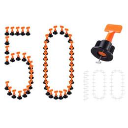 pc-systeme Rabatt Nivelliersystem-Kits 50-tlg. Fliesenabstandshalter 100-tlg., Diy Tiles Leveler Spacer mit Schraubenschlüssel, wiederverwendbare bodengleiche Fliesenabstandshalter