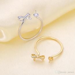 weißgold nummer 925 Rabatt S925 Silber Wunderschöner Perlenring mit Fliege OHNE Perle für ein Festival-Überraschungsgeschenk