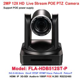 2019 ptz óptico Full hd 1080p60fps 3G-SDI HDMI IP RJ45 Red POE video PTZ Cámara 12x zoom óptico H.264 H.265 ptz óptico baratos