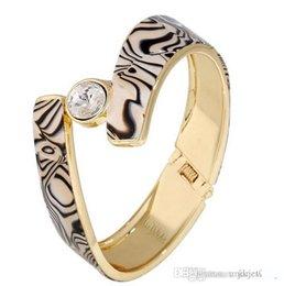 2020 jóias zebra Moda Bangles zebra largas bange pulseiras de ouro chapeado pulseiras jóias presentes para ela Womens Bangle Pulseiras desconto jóias zebra