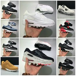 cheap cushion air shoes Coupons - 2020 NEW CHaussures 90 Trainer ShOes Classic Men WOmen CHeAp 90 Sports Shoes Black Red White Air Cushion Designer Air90 Sneakers