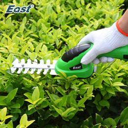 Cercas cortadas on-line-Ferramentas Ferramentas de poda East Garden 3.6V de lítio de 1500mAh Cordless Aparador de Grama Hedge Trimmer poda Shears Lawn Mower