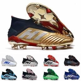 sapatos cr7 crianças pretas Desconto Predator 19 + 19.1 FG AG PP Paul Pogba 25º Aniversário Mens Ouro Mens Futebol Chuteiras 19 + x Chuteiras Botas Taquets Tamanho 39-45