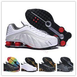 reputable site 0394e 4bbee 2019 neueste shox Mens Designer Sneakers chaussure homme R4 Zapatillas  Laufschuhe shox Man Sport Walking Trainer Größe Eur40-46 rabatt shoes shox