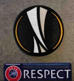 Melhor qualidade Black Europa patch e Respeito remendo Europa league Soccer Emblema Respeito Patch Frete grátis de Fornecedores de chaveiro de borracha