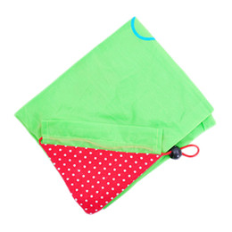 green fruit bags Coupons - New Simple Reusable Foldable Strawberry Fruit Green Folding Convenience Shopping Bag torage Travel Shopping Tote Grocery Bags 07