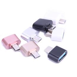 Cabo otg para iphone on-line-Micro usb otg 2.0 abraço conversor type-c otg adaptador para o telefone android para samsung leitor de cartão de cabo flash drive otg leitor de cabo shippin livre