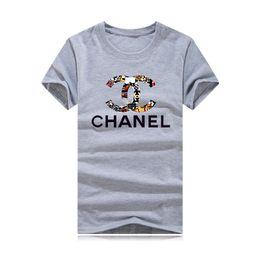 impressões de c Desconto 2019 C Designer de moda Cor letra impressão Rodada gola Mangas Curtas T Camisas Para homens mulher Tee Homem Tops camisa de roupas Respirável