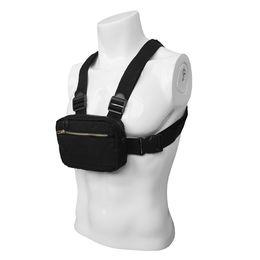 Uomini Tactical Bag Holder del telefono mobile Borsa da corsa sportiva Chest Rig Shoulder Pack Caso all'aperto da campeggio in esecuzione Escursionismo in nylon da