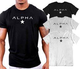 camisas livres do bodybuilding Desconto MENS ALPHA STAR GYM ATLAS ATRAVÉS DE CULTURISMO CAMISA TOP TREINAMENTO MMA UFCFunny frete grátis Unisex Casual
