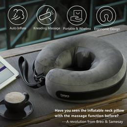 vente en gros cou oreiller de massage gonflable oreiller de voyage portable ergonomique en forme de U dispositif de traction cervicale pour voiture bureau Massager ? partir de fabricateur