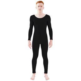 eee3ea2a9c49 Ensnovo Unisex Lonng Sleeve Scoop Neck Spandex Full Bodysuit Ballet  Dancewear Unitard Jumpsuit Zentai Suit