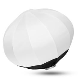 forme di lanterna di carta Sconti soft box 50/65/80 cm pieghevole sfera softbox lanterna di carta sfera forma globo diffusore bowens mount per flash studio stroboscopio