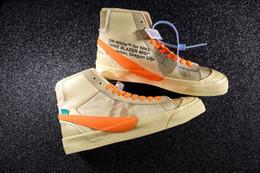 OFF White x Nike Blazer 2019 haute qualité dernière marque Blazer Mid Grim Reaper chaussures de basketball noir pour hommes All Hallows Eve Designer