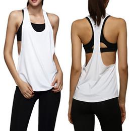 Abgeschnittene trikots online-Weibliche Sport Top Jersey Frau T-shirt Crop Top Yoga Gym Fitness Sport Ärmellose Weste Singulett Lauftraining Kleidung für Womem