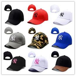 Chapéus ny livre on-line-Atacado de alta qualidade NY Yankees fade Bonés de Beisebol Chapéu Curvo Visor chapéus casquette 100% algodão gorras Golf osso Snapback Hat frete grátis