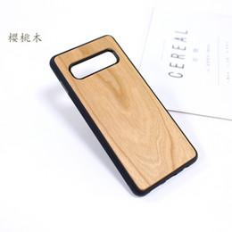 Caja del teléfono móvil de los fabricantes online-Cubierta de madera real del fabricante de la caja del teléfono móvil para el caso del Samsung Galaxy S10