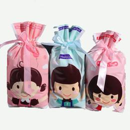 2019 bolsas de papel de aluminio al por mayor Nueva bolsa de regalo a cambio de mayor venta de envases de dulces boca montón de regalo de Navidad de la cinta creativa bolso de lazo de regalo de boda