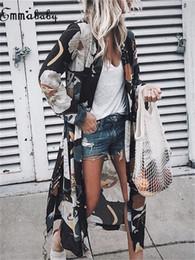 Kadınlar Casual Vintage Uzun Kollu Kimono Hırka Bayanlar Yaz Uzun şifon Plaj Cover Up Gevşek Çiçek Baskılı Bluz Üst Artı Boyutu cheap plus size vintage cardigans nereden artı boyutu vintage hırkalar tedarikçiler