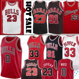 Camisa 45 on-line-23 MJ Michael Jersey Coby 0 branca NCAA Scottie Pippen 33 Retro Dennis Rodman 91 45 MJ Colégio Men Basketball Jerseys