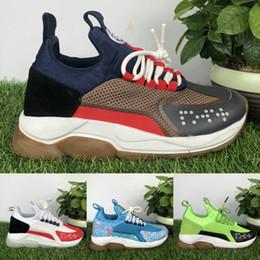 Botas cruzadas online-Forme a plataforma azul para mujer para hombre zapatos de diseño Cruz Chainer Reacción Multi Color Negro Blanco Rojo Zapatos informales de lujo para las zapatillas de deporte Botas 36-45