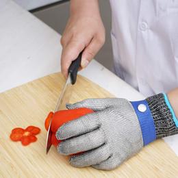 ferramentas de corte de segurança Desconto Corte luvas resistentes Food Grade Nível 5 Cozinha ferramentas de aço inoxidável fio de metal malha Butcher Segurança do Trabalho Luvas de corte da carne M972F