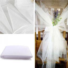 Roll organza per decorazioni online-A buon mercato! 48 cm * 5 metro puro cristallo organza tulle rotolo tessuto per drappeggiare cerimonia di cerimonia nuziale decorazione della casa decorazione capodanno