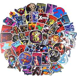 100 stücke aufkleber dark tone super hero cartoon vinyl wasserdichte aufkleber junge kinder mädchen geschenkidee skateboard laptop aufkleber von Fabrikanten
