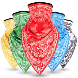 2019 Велоспорт Маска Повязка Шарф Половина Маска Велоспорт Бандана Треугольник Льда Головные Уборы Велосипед Маска Открытый Спорт Шарф cheap half face sports mask от Поставщики напольная спортивная маска для лица