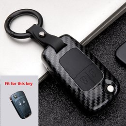 Plástico ABS + Gel de sílice Cubierta de la caja de la llave del coche para Buick Chevrolet Cruze Opel Vauxhall Mokka Encore Flip key Auto KeyShell Llavero desde fabricantes