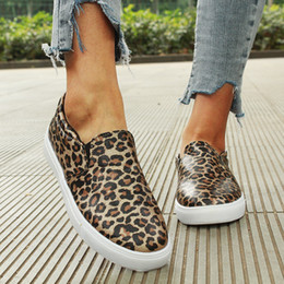 female lazy shoes Promo Codes - Women flat shoes 2019 new female leopard snake print loafers soft bottom one pedal lazy shoes women slip on flats