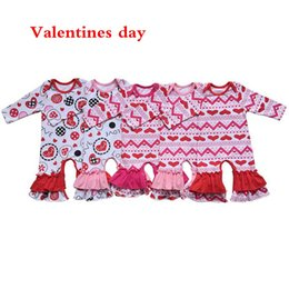 bulk wholesale clothes Promo Codes - Valentines day St.Patrick's Day easter Day girls gown clothing icing ruffle baby girls romper bulk wholesale baby clothes