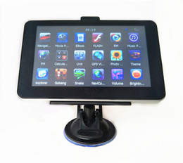 2019 navegação por gps Navegação do carro de 7 polegadas GPS com o navegador do avoirdupois de Bluetooth DDR256MB + 4GB 8GB MTK ganham o CE multilingue livre multilingue navegação por gps barato