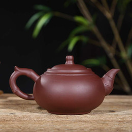 Китайская китайская коробка онлайн-Китайский фиолетовый глиняный чайник Исин чайник Китай фарфор керамические Zisha чайник с подарочной коробке пакет хороший подарок для друзей