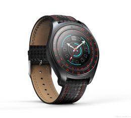 Podómetro corazón bluetooth online-V10 Smart Watch Hombres con cámara Bluetooth Smartwatch Podómetro Heart Rate Monitor Sim Card Reloj de pulsera para Android Smartphone