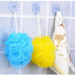 Cubeta de ducha online-Al por mayor-3Pcs Flower Ball Bath Bucket Cooling Towel Shower Wash Sponge Scrubber Sody HOT
